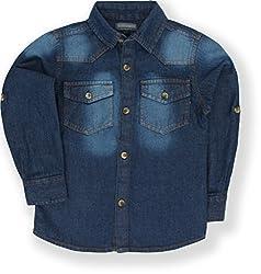 TONYBOY Boys Casual Denim Shirt (Indigo)