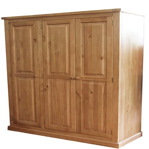 Chunky Solid Pine Triple Wardrobe - Furniture