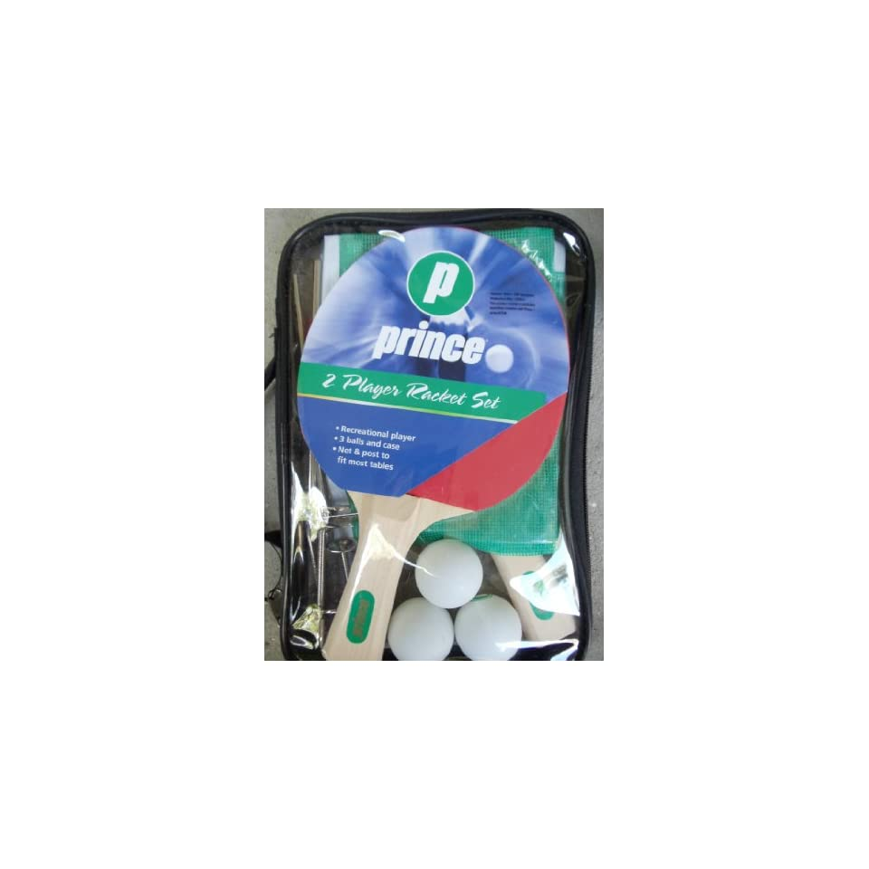PRINCE Two Player Table Tennis Set [Rackets, Net & Mounts