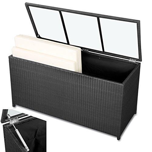 Auflagenbox-Polyrattan-Kissenbox-XL-Garten-Auflagenbox-schwarz