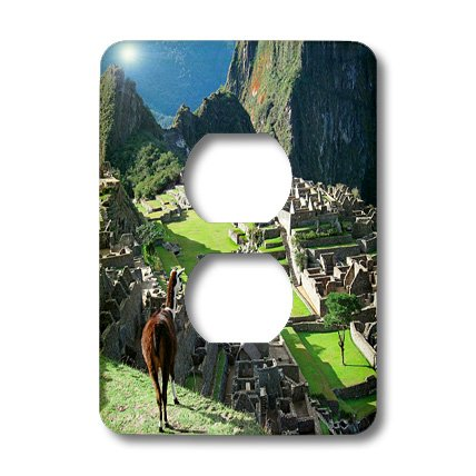 Lsp_141644_6 Danita Delimont - Machu Picchu - Peru, Machu Picchu, Llama Overlooks The Lost City - Sa17 Mgl0057 - Miva Stock - Light Switch Covers - 2 Plug Outlet Cover