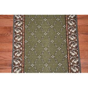 dean washable non slip carpet rug runner trellis green purchase by the linear. Black Bedroom Furniture Sets. Home Design Ideas