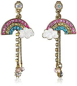"Betsey Johnson ""Fairyland"" Rainbow Drop Earrings"