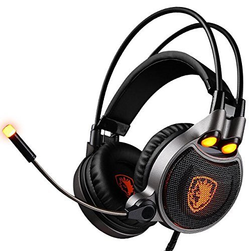 GW SADES R1 Virtual 7.1 USB Gaming Headset with Vibration Intelligent 4D Extreme Bass Headphones with In-line Control(Black)