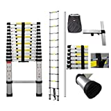 3.8 m telescopic ladder with a complimentary carry bag