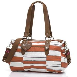 Babymel Diaper Bag, Ella Stripe Sunset Orange by Babymel