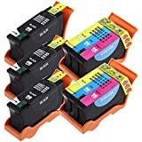 5 Pack (3 Black & 2 Color) Compatible Hi-Yield Ink Cartridge for Dell Series 21 22 23 24 P513w P713w V313 V715w v515w Sold By INKTONER