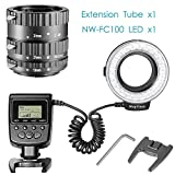 Neewer-32-Pieces-LED-Macro-Ring-Flash-Kit-for-Canon-EOS-1d-1ds-Mark-II-III-IV-5DMark-II-7D-10D-Digital-Rebel-xt-xti-xsi-t1i-t2i-t4i-t5i-300D-350D-402D-500D-550D1000D-and-More