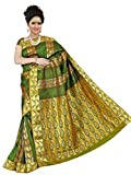 Brindavan Emboss Design Poly Silk Rich Pallu Party Wear Saree with Embellished Stone (1989embstn07)