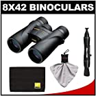 Nikon Monarch 5 8x42 ED ATB Waterproof/Fogproof Binoculars with Case + Kit