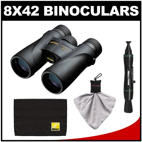 Nikon Monarch 5 8X42 Ed Atb Waterproof/Fogproof Binoculars With Case + Cleaning & Accessory Kit