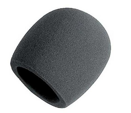 Liroyal Pack Of 10 Pcs Black Handheld Stage Microphone Windscreen Foam Cover