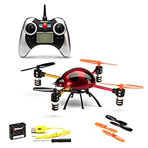 Top Race® 3D Tumbling Ladybug 4-Axis 4-Ch RC Remote Control Quad Copter RTF