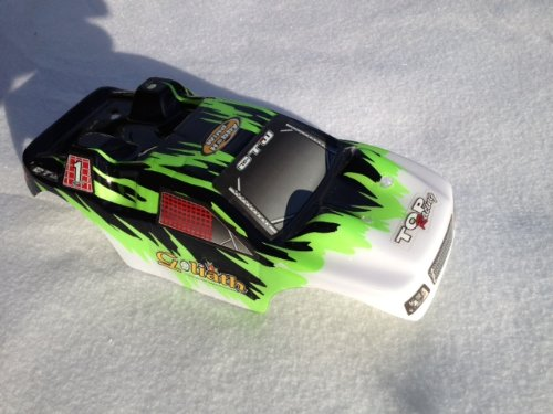 Aleko® 1/10 Body Shell For RC Road Car #19 White Green Black Redcat Racing Vehicle Parts