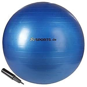 ScSPORTS - Ballon de gymnastique avec pompe - 75 cm
