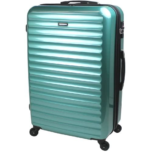 【SUCCESS サクセス】 TSAロック搭載 超軽量 スーツケース 大型 75cm Lサイズ 【ヴィアーノ2013】 鏡面ミラー加工 ダブルファスナーモデル (大型 75cm, ニューマリン)