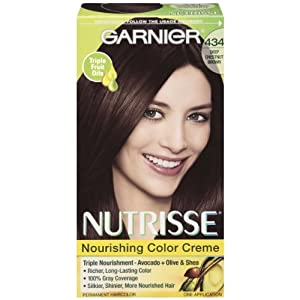 Garnier Nutrisse Permanent Haircolor, 434 Deep Chestnut Brown