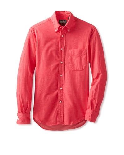 Gitman Vintage Men's Solid Reverse Long Sleeve Button-Down Shirt