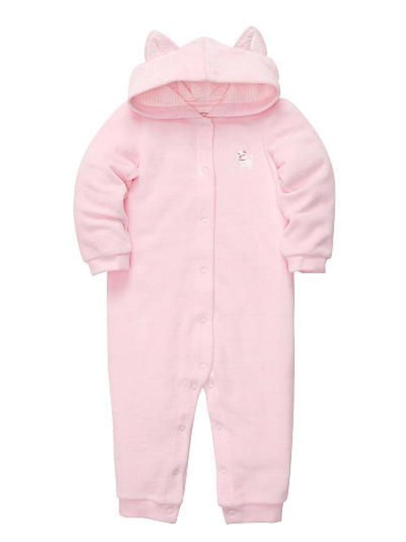 Carters Infant Girls Pink Cat Hooded Sleeper Sleep & Play Pajamas леггинсы carters леггинсы