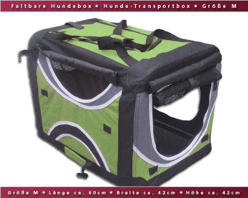 Faltbare-Hunde-Transportbox-Auto-Transportbox-M-Grn-Schwarz