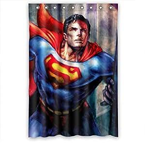 Momo Superman Comfort Shower Curtain Measures 48 W X 72 H Home Kitchen