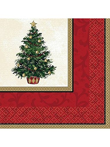 Amscan BB519900 Christmas Tree Luncheon Napkins -16 Pack