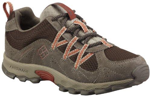Columbia Daybreaker Waterproof Lace Hiking Shoe,Cordovan/Cedar,7 M US Big Kid