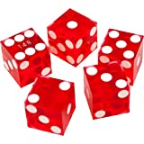 Trademark Poker 19mm A Grade Serialized Set of Casino Dice (Red)