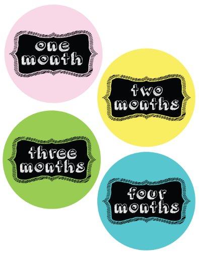 Chalkboard Frames Style Monthly Onesie Stickers - Baby Photo Prop - Newborn Sticker - Bodysuit Stickers - Chalkboard Stickers