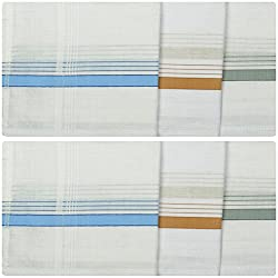 Reddington Men's Cotton Handkerchief - Pack of 6 (White)