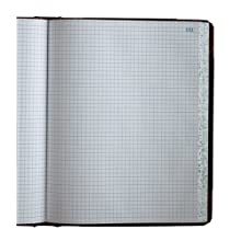 Boorum & Pease 21 Series Columnar Book, Quad Ruled, 300 Page, Black/Red (21-300-Q)
