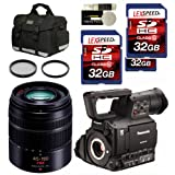 Panasonic AG-AF100A + Panasonic 45-150mm + Case + 2 Filter + Two 32GB SDHC (10) Deluxe Kit