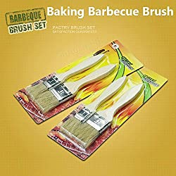 2pcs Wooden Bristle Brush Baking BBQ Barbecue Oil Butter Bursh