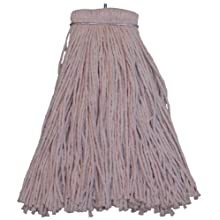 Zephyr Shineup 4-Ply Cotton Screwflat Cut End Mop Head (Pack of 12)