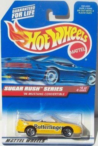 mattel-hot-wheels-1998-164-scale-sugar-rush-series-1996-butterfinger-ford-mustang-convertible-die-ca