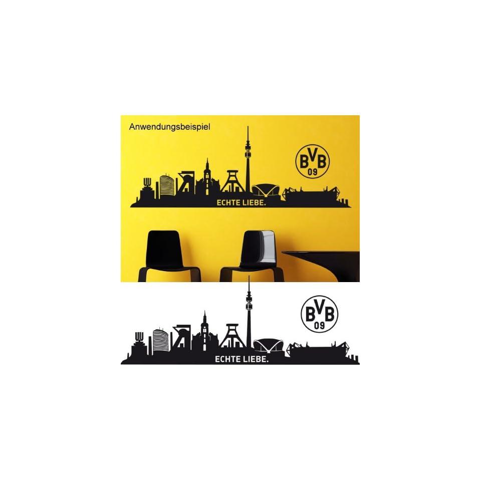 Borussia Dortmund Wandtattoo Skyline Echte Liebe 120 X 44