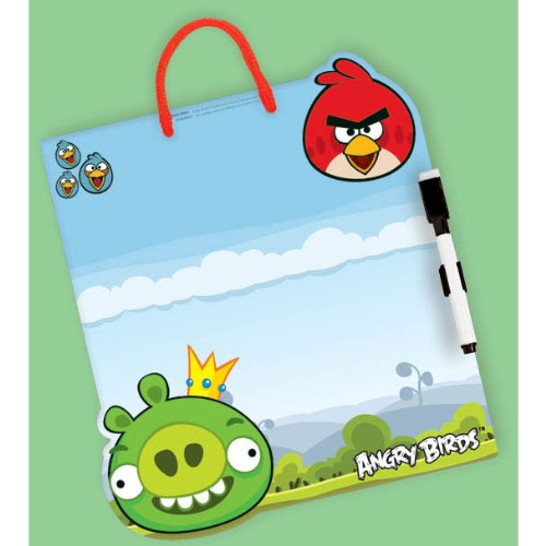 "Amscan Angry Birds Cute Dry Erase Board Birthday Party Favor, 10.7 x 8.6"", Multicolored"