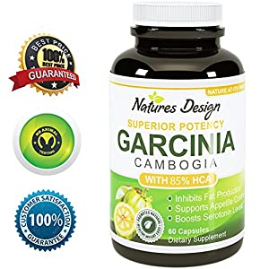 Purest Garcinia Cambogia Extract Highest Grade Quality 82 Hca Best Formula - Pure Potent With Extra Strength - Safe Effective Weight Loss Supplement - 120 Capsules Usa Made By Natures Design by Natures Design