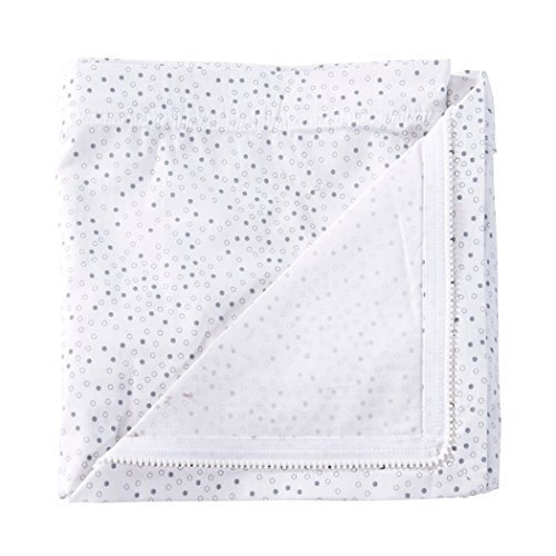 QuickZip Crib Extra Zip-On Sheet, 100% Cotton, Gray Dot - Goes With QuickZip Crib Sheet Base Sold Separately