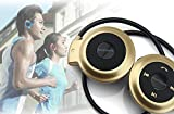Jiafeng® Mini-503 Bluetooth V4.0 Wireless Stereo Bluetooth Earphone Sport Headset Music Headphone with Built-in Microphone CSR A2DP AVRCP For iPhone Samsung Cell Phones ipad (Gold)