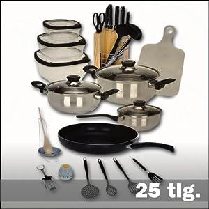 Kuchen erstausstattung 25 teilig amazonde kuche haushalt for Erstausstattung küche