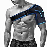 Sport Shoulder Brace by Babo Care, Neoprene Shoulder Stability Support for Rotator Cuff, Dislocated AC Joint, Shoulder Pain, Shoulder Compression Sleeve with Long Adjustable Wrap Strap Band