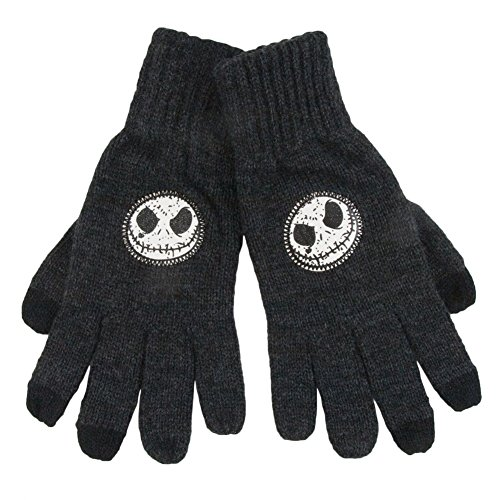 Grey Jack Skellington Acrylic Gloves with Touch Fingertips (Grey Jack compare prices)