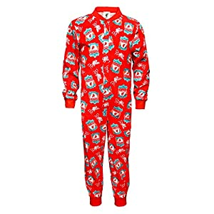 Liverpool FC Official Football Gift Boys Kids Pyjama Onesie Red Crest 9-10 Years by Liverpool FC