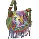 Anuschka Fringed Flap Saddle Bag Enchanted Fairy