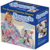 Snuggie Fleece Blanket with Sleeves, Peace