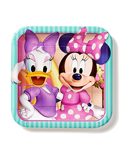 Minnie Mouse Bowtique 9 in Square Plate, Pack of 8, Party Supplies