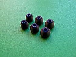 6pcs - Small / Medium / Large Round (BK) Replacement Earbuds Eartips Set for Jaybird Bluebuds X Bluetooth In Ear Earphones / Headphones