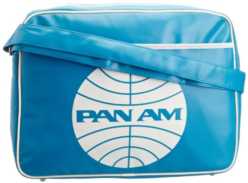 Logoshirt Unisex Adults Pan AM Fake Landscape Format Messenger Bag Turquoise