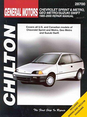 general-motors-chevrolet-sprint-and-metro-geo-metro-suzuki-swift-repair-manual-1985-2000-by-joseph-d